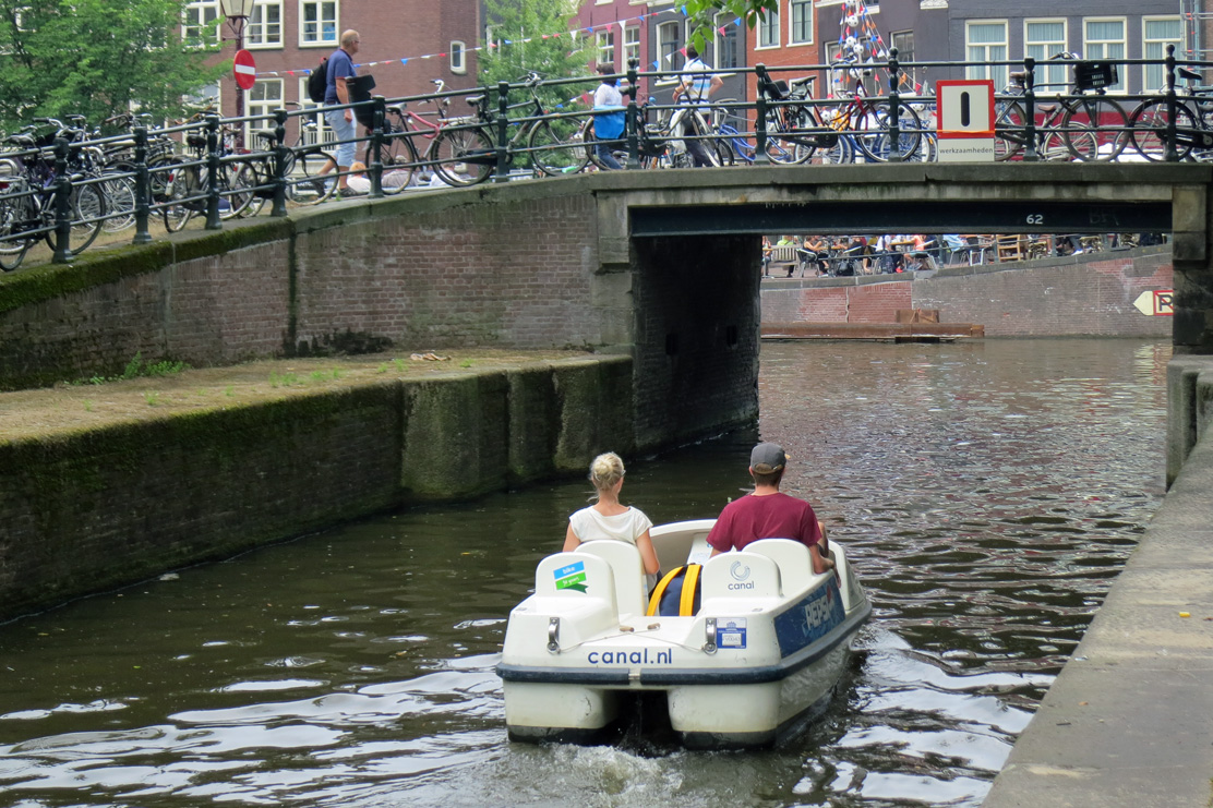 Pedalboat canals Amsterdam